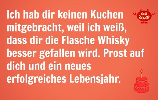 whisky sprüche geburtstag